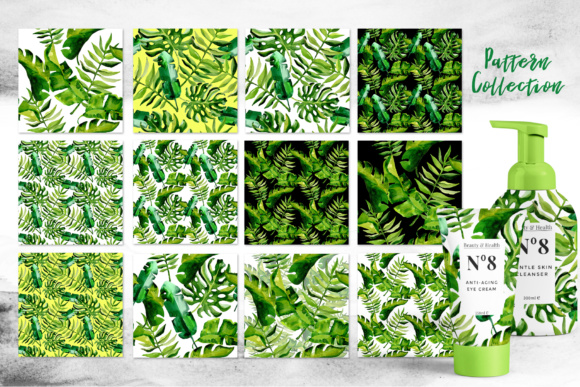 Succulent Tropical Leaves PNG Watercolor Set Graphic By MyStocks Image 5