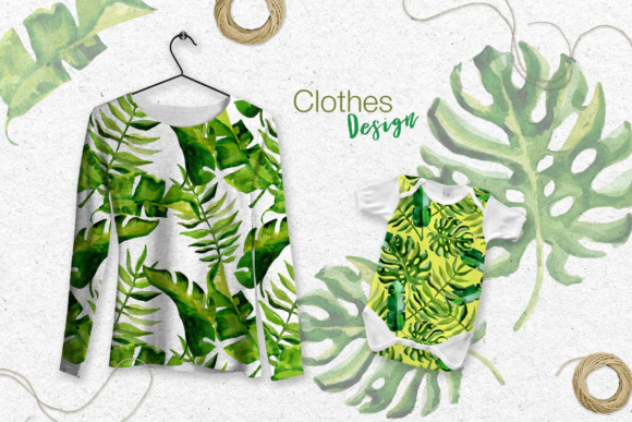 Succulent Tropical Leaves PNG Watercolor Set Graphic By MyStocks Image 7
