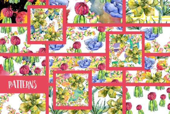 Succulents PNG Watercolor Set  Graphic By MyStocks Image 4