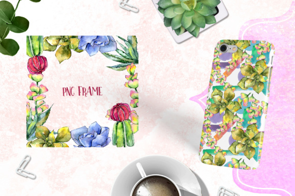 Succulents PNG Watercolor Set  Graphic By MyStocks Image 5