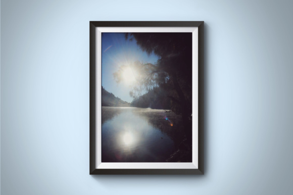 Sun Warms the Lake Graphic Nature By Kerupukart Production