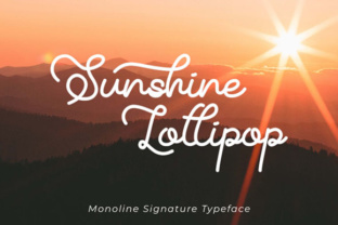 Print on Demand: Sunshine Lollipop Script & Handwritten Font By Panrita Studio