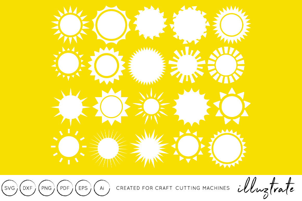 Download Free Sunshine Summer Graphic By Illuztrate Creative Fabrica for Cricut Explore, Silhouette and other cutting machines.