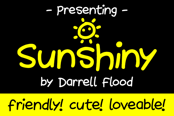 Print on Demand: Sunshiny Script & Handwritten Font By Dadiomouse