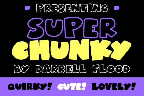 Print on Demand: Superchunky Display Font By Dadiomouse