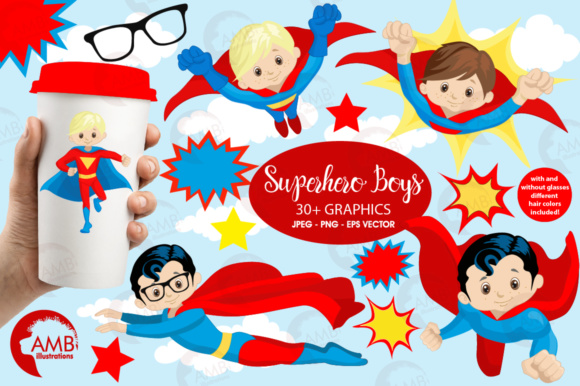 Superhero Boys Graphic Illustrations By AMBillustrations