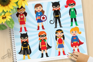 Download Free Superhero Girl Clipart Graphic By Myclipartstore Creative Fabrica for Cricut Explore, Silhouette and other cutting machines.