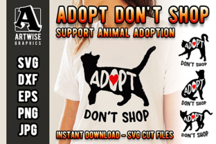 Download Free Support Cat And Pet Adoption Animal Rescue Graphic By Artwise for Cricut Explore, Silhouette and other cutting machines.