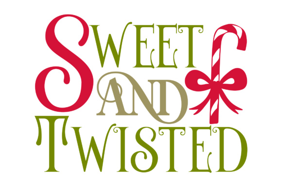 Sweet and Twisted Christmas Archivo de Corte Craft Por Creative Fabrica Crafts