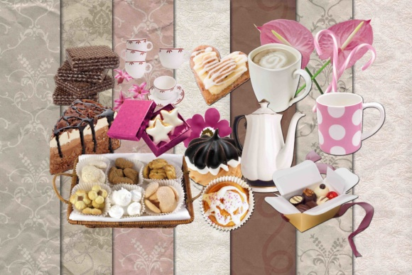 Print on Demand: Sweets Clipart Graphic Illustrations By retrowalldecor