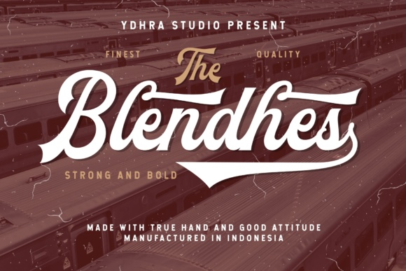 Print on Demand: The Blendhes Script & Handwritten Font By YdhraStudio