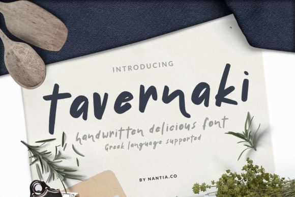 Print on Demand: Tavernaki Script & Handwritten Font By nantia