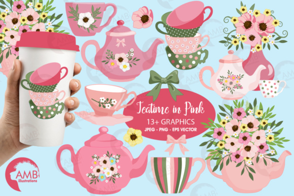 Tea Time Clipart Graphic Illustrations By AMBillustrations