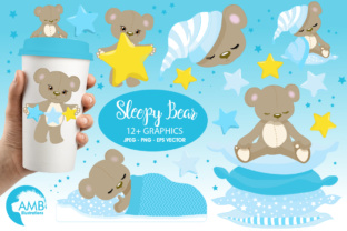 Download Free Teddy Bear Clipart Turq Graphic By Ambillustrations Creative for Cricut Explore, Silhouette and other cutting machines.