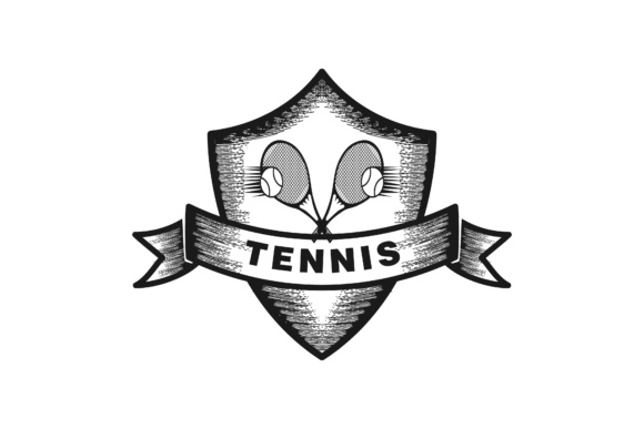 Download Free Tennis Label Badge Logo Design Graphic By Yahyaanasatokillah for Cricut Explore, Silhouette and other cutting machines.