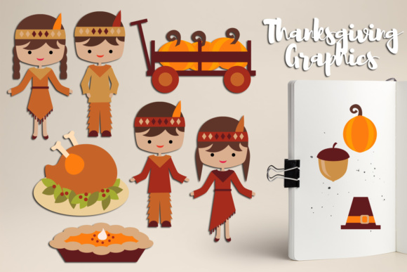 Print on Demand: Thanksgiving Day, Pumpkin Patch Graphic Illustrations By Revidevi