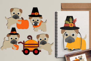 Thanksgiving Pugs Puppy Dog, Autumn Fall Season Graphic By Revidevi
