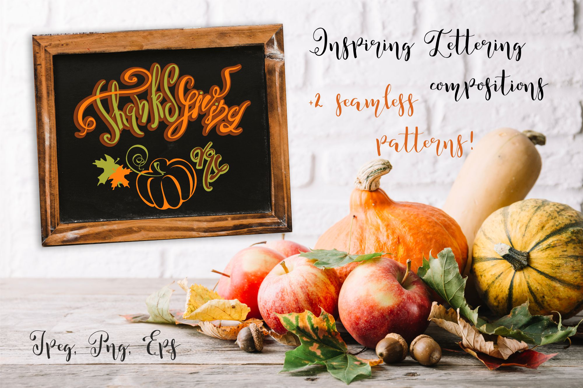 Thanksgiving day. Lettering compositions for holiday ...Thanksgiving