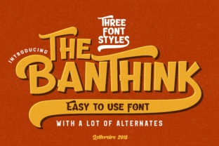 Print on Demand: The Banthink Display Font By Lettersiro Co.