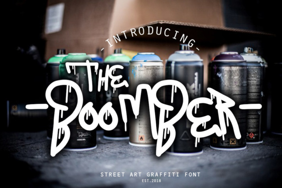 Print on Demand: The Boomber Blackletter Fuente Por fluffyartstudio