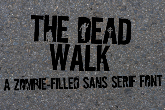Print on Demand: The Dead Walk Display Font By Illustration Ink