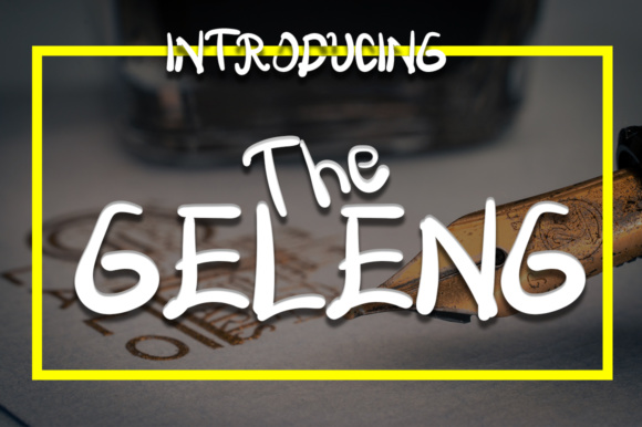 Print on Demand: The Geleng Display Font By Boombage