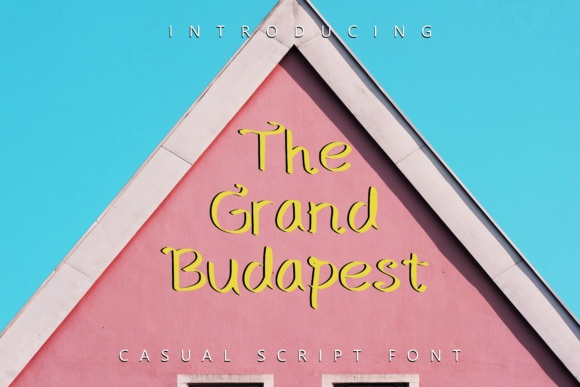 Print on Demand: The Grand Budapest Decorative Font By Rustype