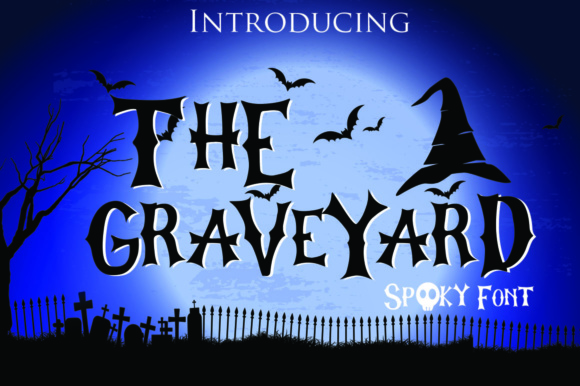 Print on Demand: The Graveyard Display Font By dmletter31