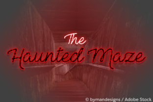 The Haunted Maze Font By Misti