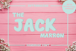 The Jack Marron Font By fanastudio