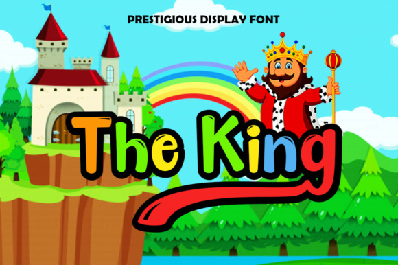 The King Display Font By Haksen