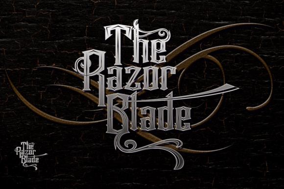 Print on Demand: The Razor Blade Sans Serif Fuente Por jehansyah251