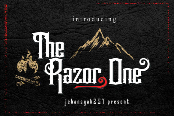 Print on Demand: The Razor One Sans Serif Font By jehansyah251
