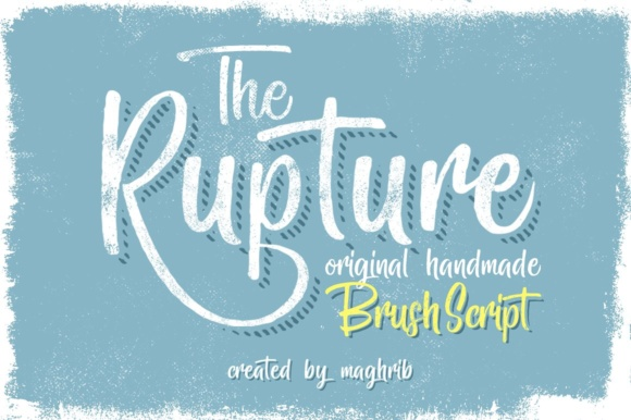 Print on Demand: The Rupture Script & Handwritten Font By maghrib