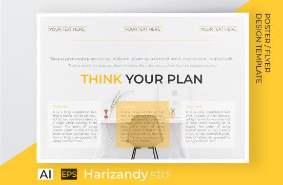 Think  Plan Flyer Template Graphic Print Templates By harizandy