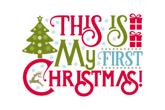 This is My First Christmas Craft Design Por Creative Fabrica Crafts
