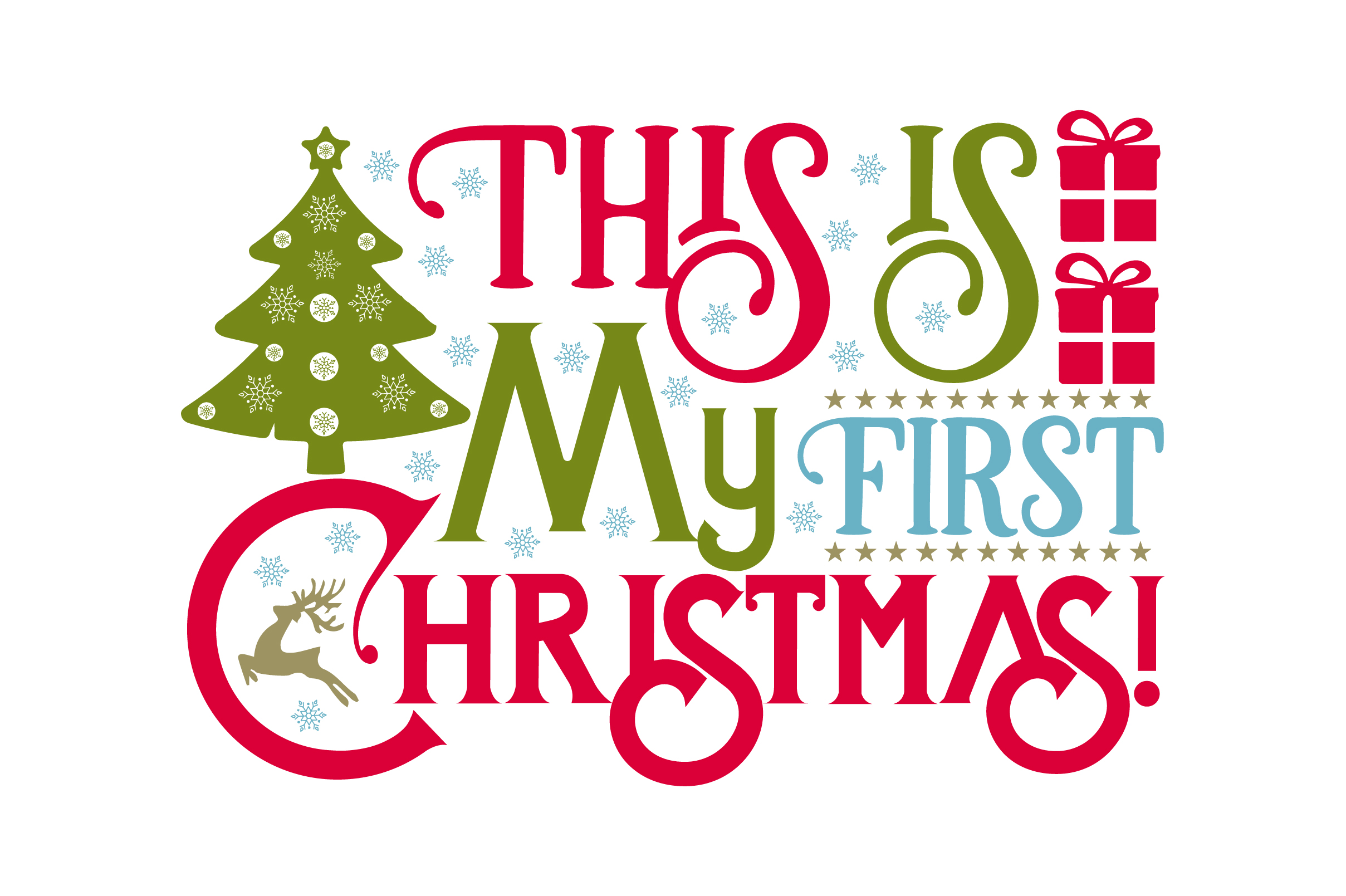 This Is My First Christmas Svg Cut File By Creative Fabrica