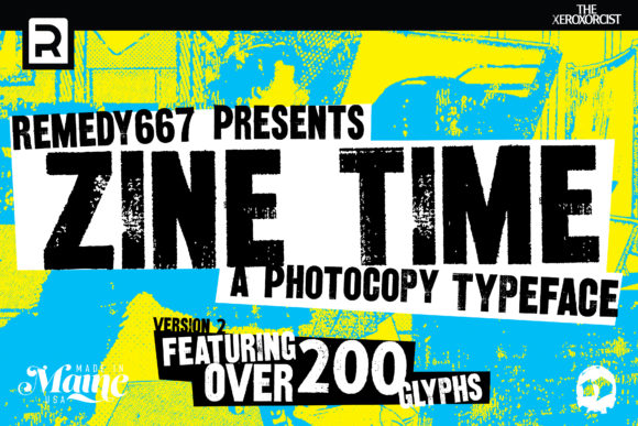 Print on Demand: Zine Time Display Font By remedy667 - Image 1