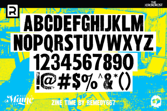 Print on Demand: Zine Time Display Font By remedy667 - Image 2