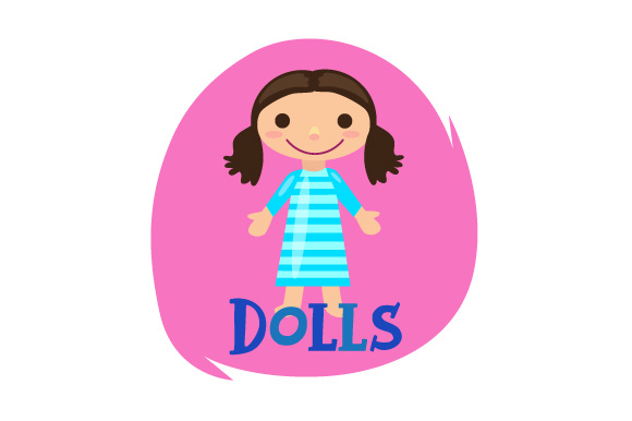 Download Free Toy Bin Label Dolls Svg Cut File By Creative Fabrica Crafts for Cricut Explore, Silhouette and other cutting machines.