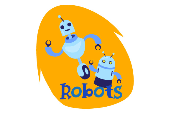 Toy Bin Label-Robots Kids Craft Cut File By Creative Fabrica Crafts