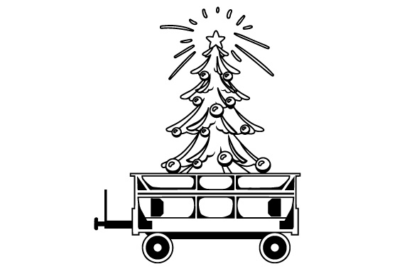 Download Free Train Wagon With Christmas Tree Svg Cut File By Creative Fabrica for Cricut Explore, Silhouette and other cutting machines.