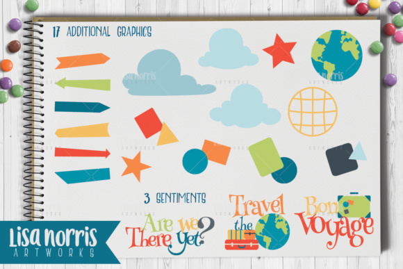 Travel the World Clip Art Graphics, Patterns, & SVG Cutting Files