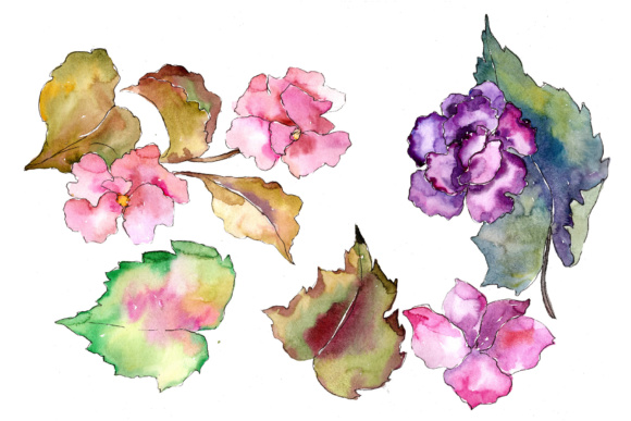 Tropical Pink Gardenia PNG Watercolor Flower Set Graphic By MyStocks Image 6