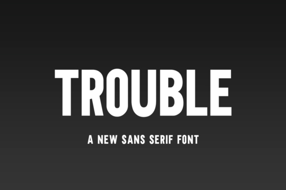 Print on Demand: Trouble Sans Serif Font By Salt & Pepper Designs
