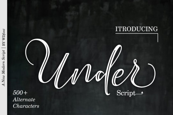 Print on Demand: Under Script Script & Handwritten Font By wdfont.creative - Image 1