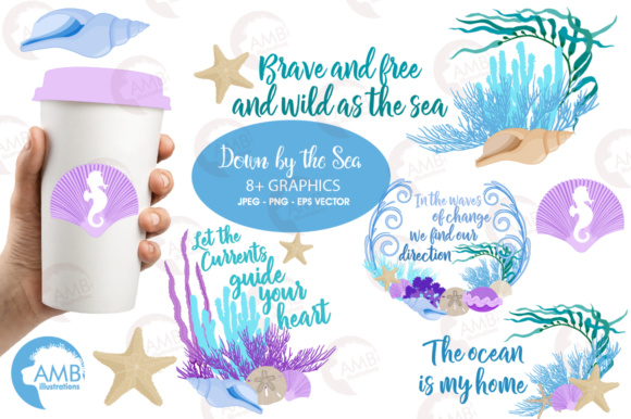 Download Free Under Sea Clipart Graphic By Ambillustrations Creative Fabrica for Cricut Explore, Silhouette and other cutting machines.