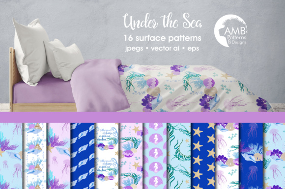 Under the Sea Papers AMB Graphic Patterns By AMBillustrations