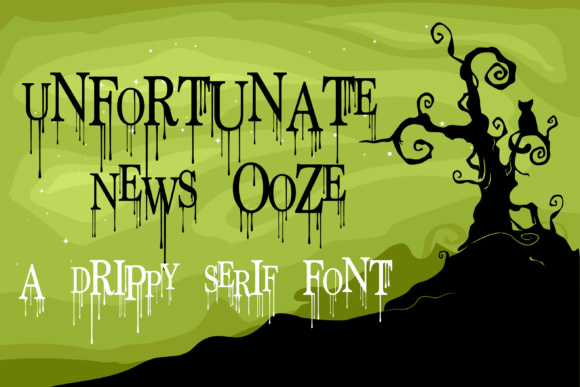Print on Demand: Unfortunate News Ooze Serif Font By Illustration Ink
