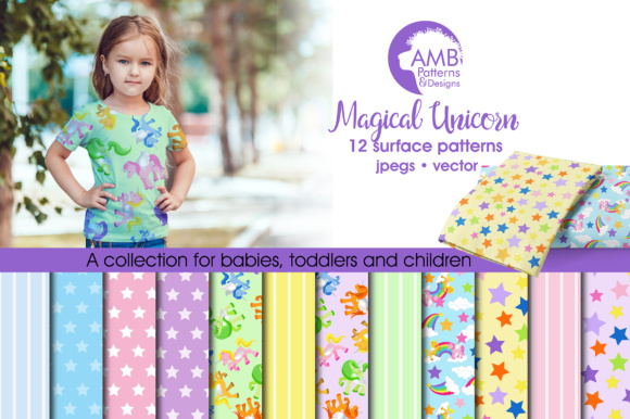 Unicorn Papers Graphic Patterns By AMBillustrations
